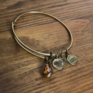Alex and Ani November Gold Birthstone Bracelet